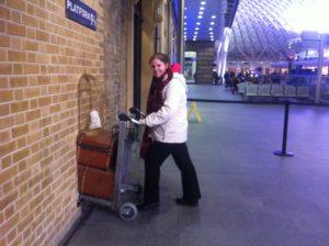 london on a budget - visit Harry Potter platform 9 3/4