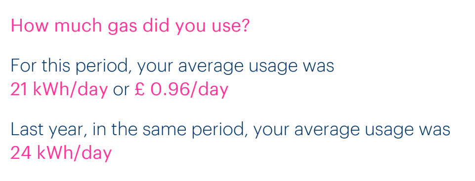 can a smart meter save you money - this shows that I saved money on my gas usage