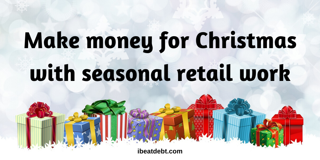 Make money for Christmas with seasonal retail work