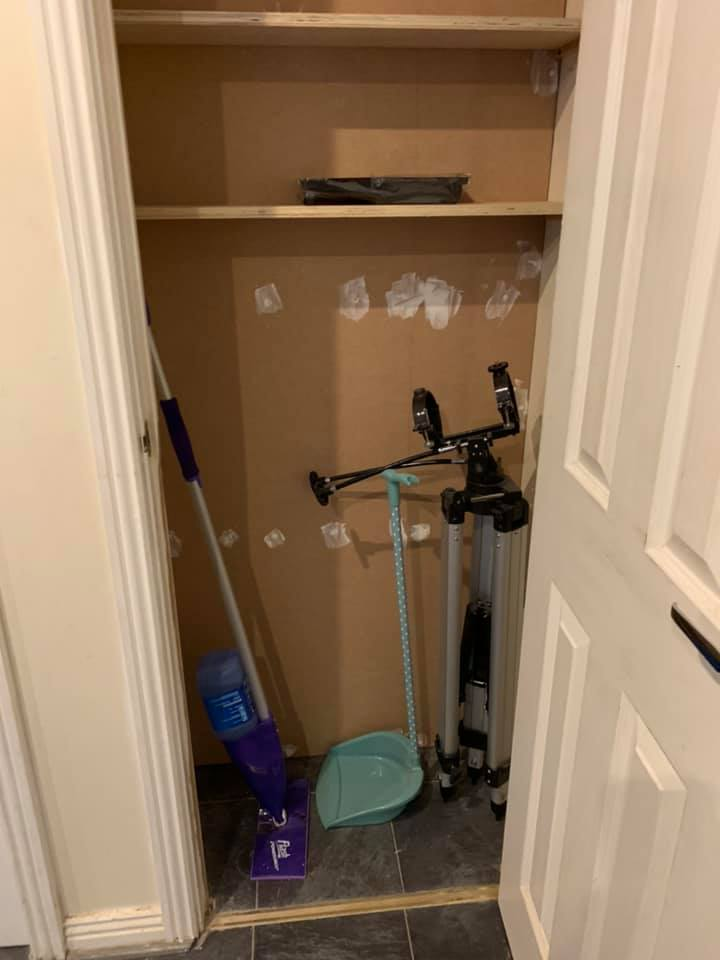 under stairs storage cupboard resized to be useful