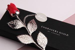 Win a Silver Valentine's Rose